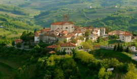 Walled hill town of Smartno - Brda, Slovenia