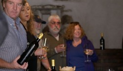 Tasting in the cellars of Kristalvin Winery, Slovenia