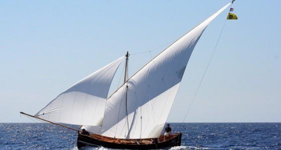 Traditional sailing vessel called Falkusa - Vis Island, Croatia