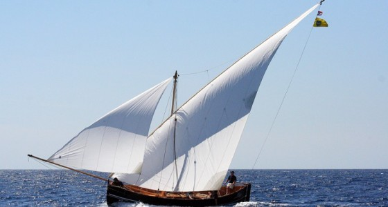 Traditional sailing vessel called Falkusa - Vis Island, Croatia