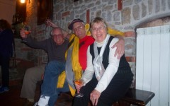 Happy guests at Sveti Martin's wine cellar - Vipava, Slovenia