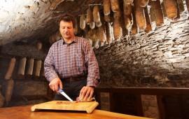 Prosciutto cellar at Skerlj farmhouse - Karst, Slovenia