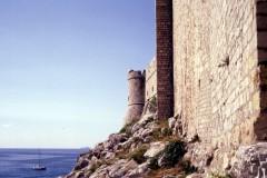 80 foot walls around Dubrovnik, Croatia