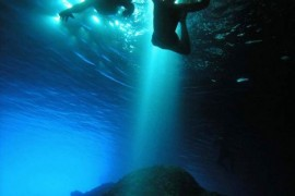 Swimming in Blue Cave Bisevo
