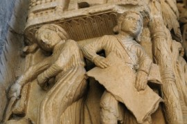 Stone work on St. Lawrence cathedral - Trogir, Croatia