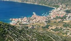 Komiza Town view from Mt. Hum - Vis Island, Croatia