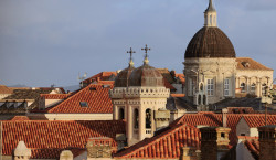 Dubrovnik rooftops and cathedral dome