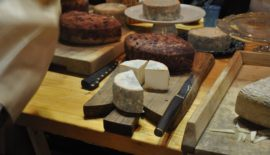 goat cheeses at Kumparicka