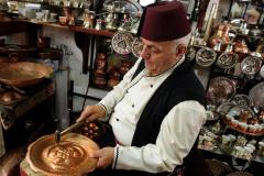 Coppersmith at work, Sarajevo