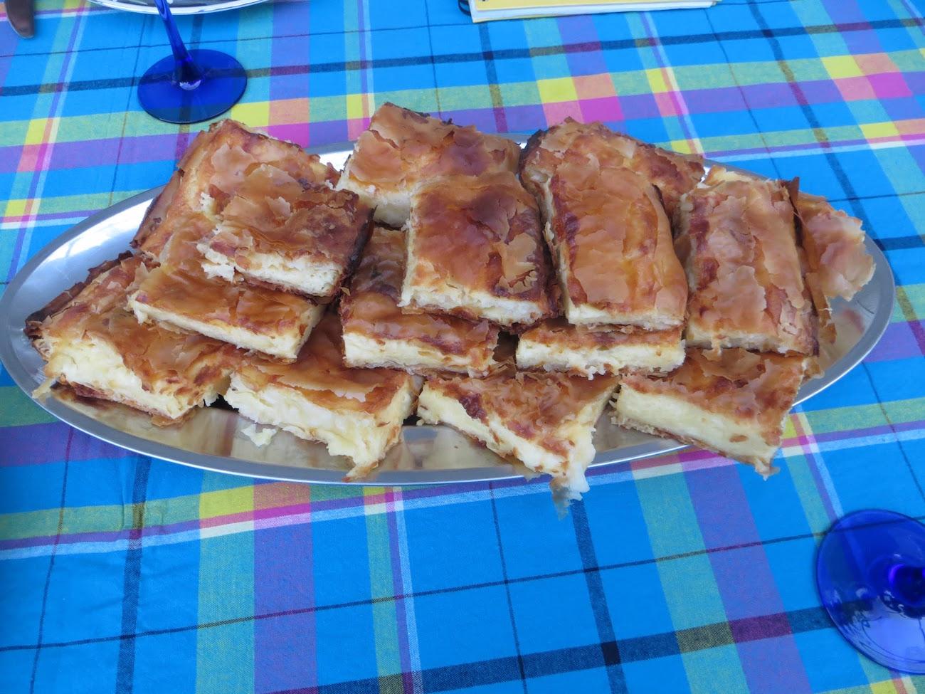 Bosnian sirnica cheese pie