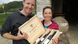Happy guests at Kabola winery, Istria Croatia