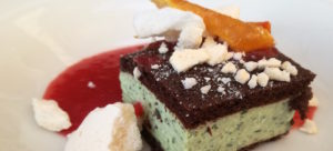 dessert at Kabaj, Slovenian winery and eatery