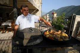 Food cooked 'Ispod sac' style - Perast, Montenegro