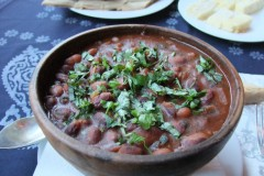 Georgian beans in clay pot