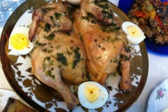 chicken baked with wild spearmint