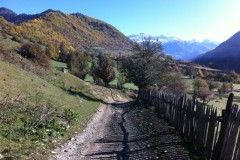 Village road in Svaneti