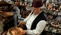 Coppersmith at work, Sarajevo