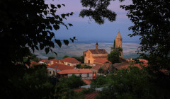 Sighnaghi as evening falls