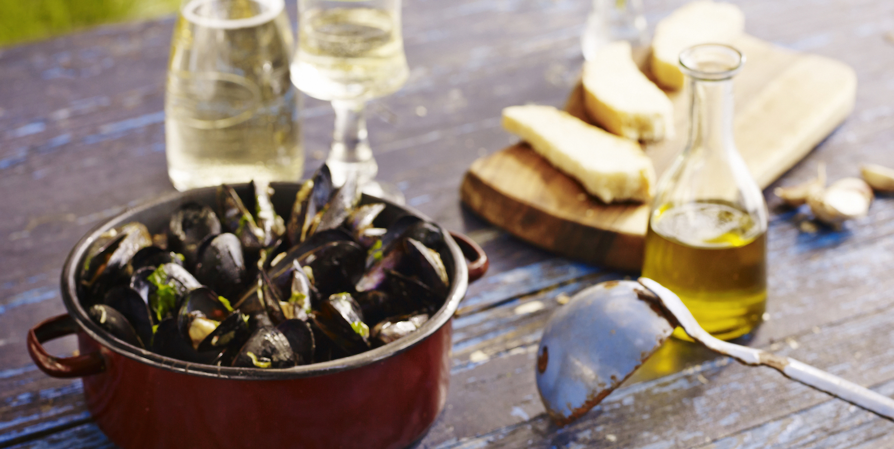 Istrian mussels wine & olive oil