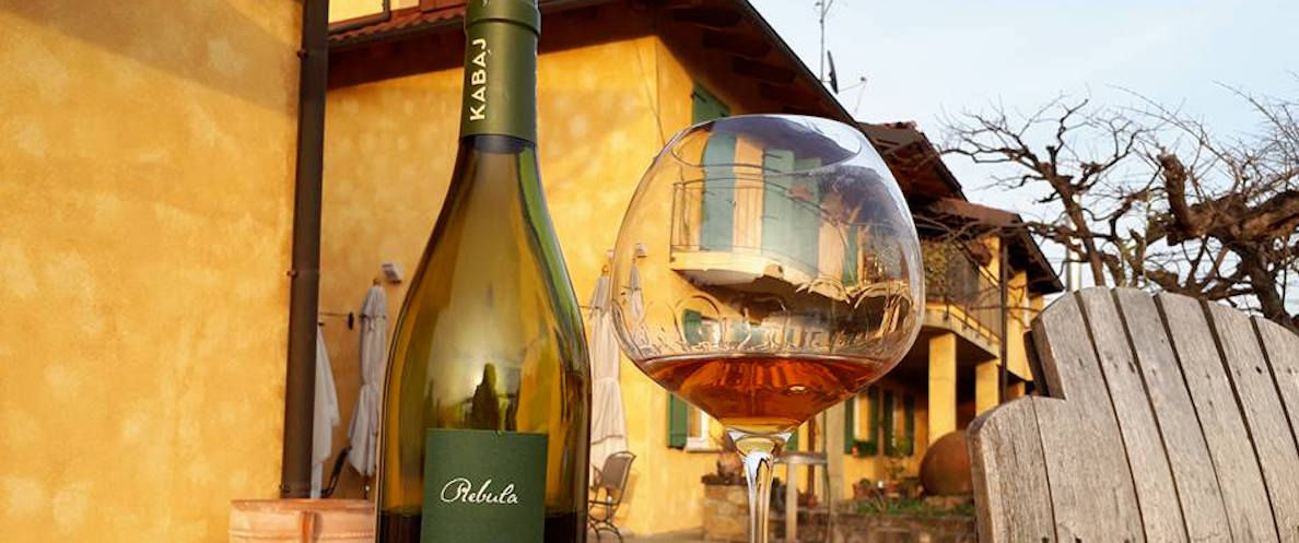Kabaj's Rebula wine from Slovenia's Goriska Brda region