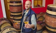 Barrel tasting at Gordia Winery, Slovenia